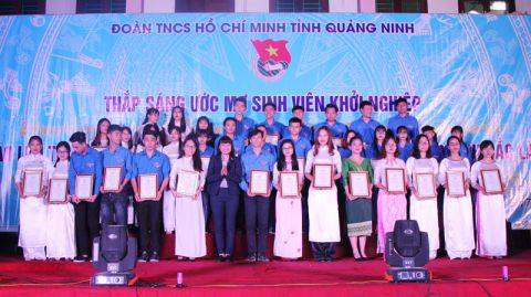 Sinh viên trường ĐHCN Quảng Ninh tham dự chương trình Thắp sáng ước mơ tuổi trẻ Quảng Ninh năm 2017